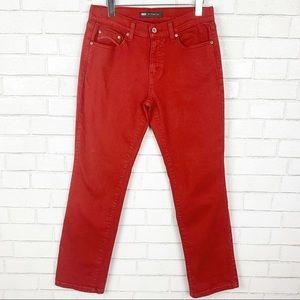 Levi's 505 Straight Leg Rust Color Jeans 8